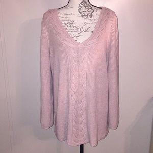 Westport Pink Sweater with Shimmers